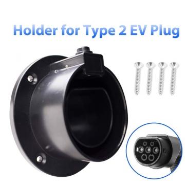Morec Typ 2 Steckerhalter | Wandhalterung für Elektroauto Ladekabel