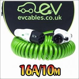 EV Cables Typ 1 CHC007-S(10M) Spiral Schnell Ladekabel