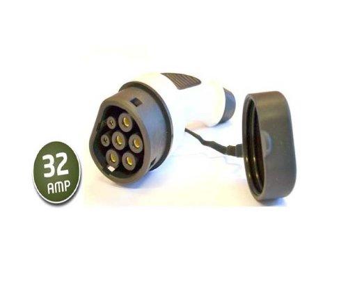 dostar typ 2 stecker weiblich fahrzeugseite 32 a. Black Bedroom Furniture Sets. Home Design Ideas