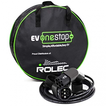 EV OneStop Ladekabel für Elektroautos | Typ 2 | 32 A | 22 kW | 10 m |
