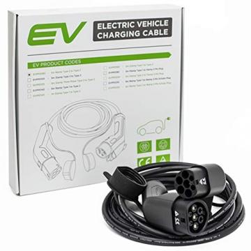 EV OneStop Ladekabel für Elektroautos | Typ 2 | 32 A | 7,2 kW | 10 m |